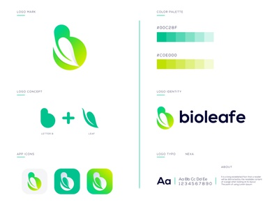 Bioleafe Branding Design | B+Leaf Logo Combination logo idea 2021 letter logo design abstract leaf logo creative leaf logo b with leaf logo modern leaf logo leaf logo branding design abstract logo abstract art professional logo modern lettering business logo gradient logo colorful logo logo design brand identity modern logo