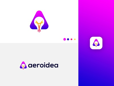 Modern A Letter + Idea Logo Design logo idea 2021 a with idea idea logo with a creative logo abstract a logo deisgn idea logo modern a logo abstract logo abstract art professional logo modern lettering business logo gradient logo colorful logo logo design brand identity modern logo