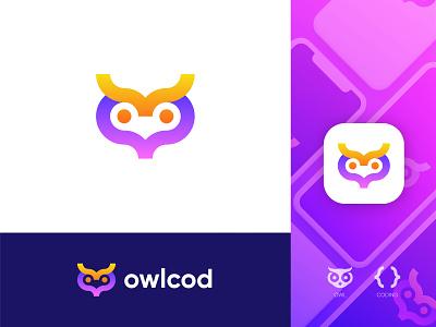 Owl+Coding owl with coding owl logo exploration unused owl logo creative owl abstract owl owlcoding logo coding logo modern owl logo owl logo abstract logo logo illustration design modern lettering business logo gradient logo colorful logo logo design brand identity modern logo