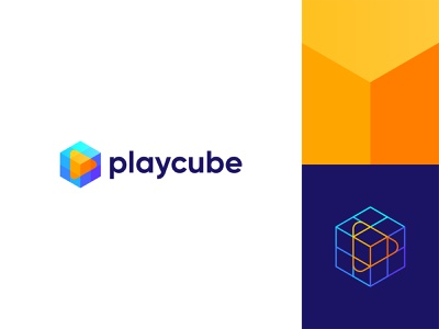 Cube+Play Icon colorful play icon hexagon professional logo logo maker abstractart abstract play logo playcube play icon cube logo letter logo logo illustration design modern lettering business logo gradient logo colorful logo logo design brand identity modern logo