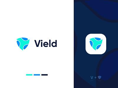 V+Shield Logo Design abstract logomark professional agency creative icon symbol lettermark v letter branding startup modern tech guard shield abstract logo logo logo design brand identity modern logo