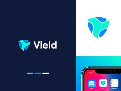 V+Shield Logo Design | Abstract Shield Logo minimal logomark designer creative security shield abstract icon symbol mark lettermark startup visual identity branding v logo tech logo logo design brand identity modern logo