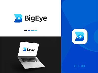 B+Eye Logo Concept symbol b with eye letter logo logomark vector minimalist abstract modern startup icon agency tech eye b logo branding visual identity logo logo design brand identity modern logo