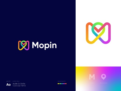 M+Pin Icon with Endless Loop unique creative agency m with loop loop abstract logo letter logo startup symbol mark vector location pin icon m logo branding visual identity logo logo design brand identity modern logo