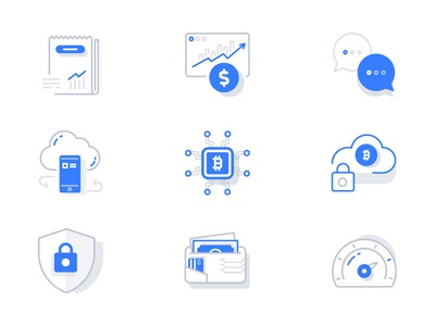 Iconography icons icon app corporate trending creative clean illustration branding web icons mobile chat cryptocurrency crypto wallet performance cloud bitcoin