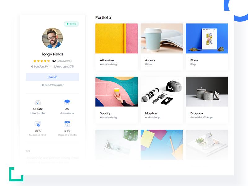 Job   employee profile   front   responsive website template