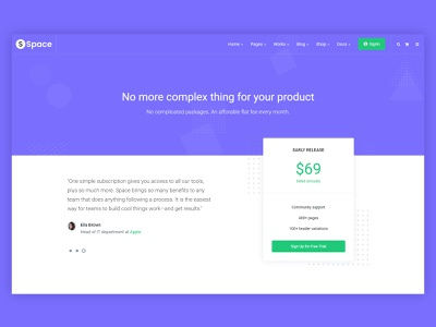 Space Pricing illustration ux ui website trending creative clean