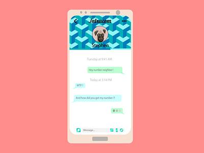"""Social network's """"Intacom"""" DMs design ui logo web app vector fictional graphiste design art branding design"""