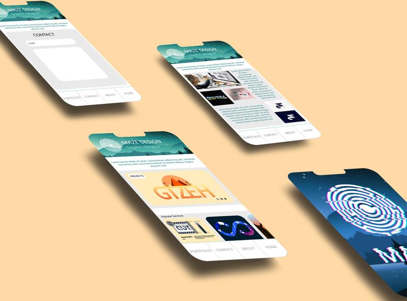 """Maze Graphic Design"" app design design art creative flat web app vector ui fictional graphiste branding design"