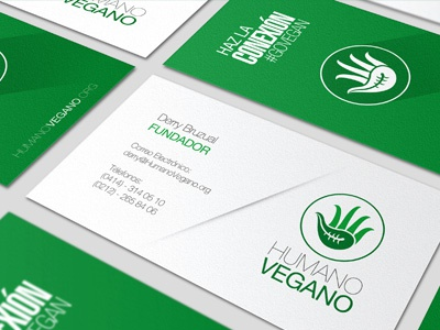 Humano Vegano Businesscard human vegan vegetarian eating businesscard org branding logo brand