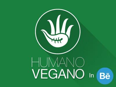 Humano Vegano Logo Brand human vegan vegetarian eating org branding logo brand