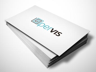 OperVis Logo marca tarjeta card business branding brand logo