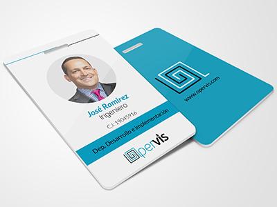 Opervis Id Card Desig marca identificacion carnet card id branding brand logo