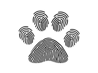 Paw + Human Fingerprint finger pets animals dog human paw fingerprint