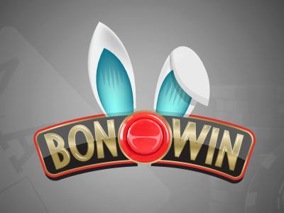 Bonowin Logo gambling arcade poker marca logo branding