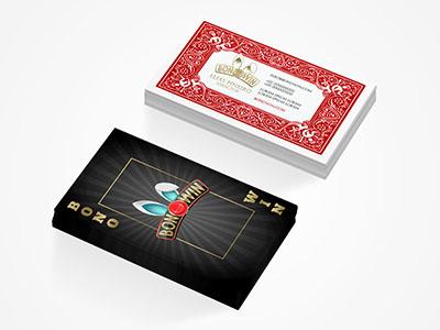 Bonowin business card cards playing gambling arcade poker marca card business branding