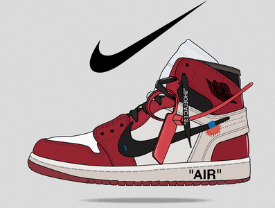 Air Jordan 1 Off-white sneakers sneaker nike shoes airjordan nike air nike adobe illustrator vector illustrator artwork graphic design adobe