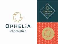Ophelia Chocolatier Branding Label