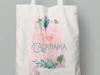 Alabama Floral Wedding Tote