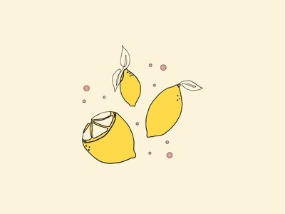 Pink Lemonade illustrator vector minimal icon branding design illustration