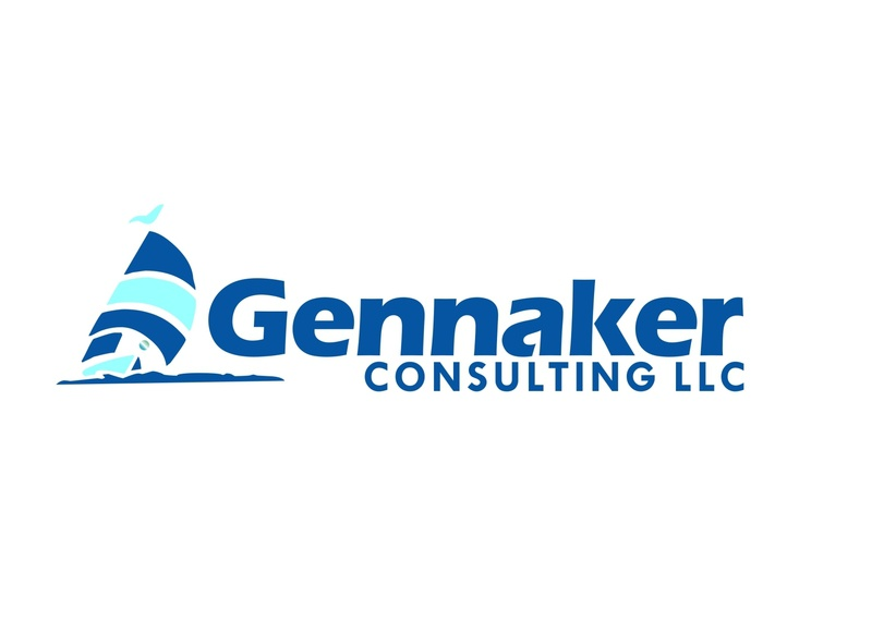 Gennaker icon typography logo illustration