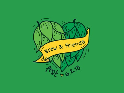 Brew & Friends Fest Logo branding graphic design event design logo