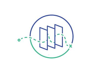 Roadmap Icon web design icon
