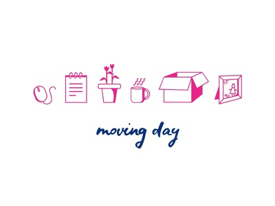 Moving Day Icon Set office moving icon artwork icons