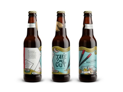 2018 Beer and Branding Submission take-out illustration bottle label aiga packaging beer art beer and branding aiga charlotte