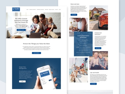 Homepage for Insurance Agency