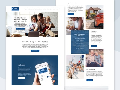 Homepage for Insurance Agency web design homepage website
