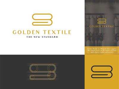 Golden Textile - Logo design branding concept logotype brand experience brand elements logos logo logogrid minimalistic minimalism exclusive logo exclusive design abstract logo brand design brand brand identity branding