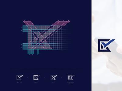 CKconsultancy - Grid logo design brand logo branding advice accountancy logo abstract logo abstract symmetry grid design grid layout logomark logotype grid logo