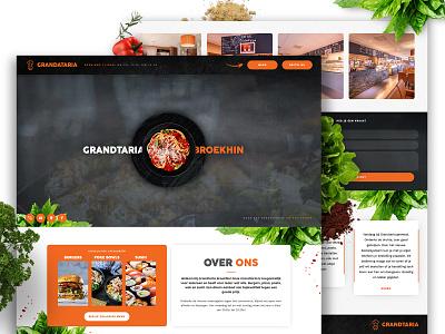 Grandtaria - Website website design culinary modern restaurant branding branding uxui web restaurant website webdevelopment webdesign website