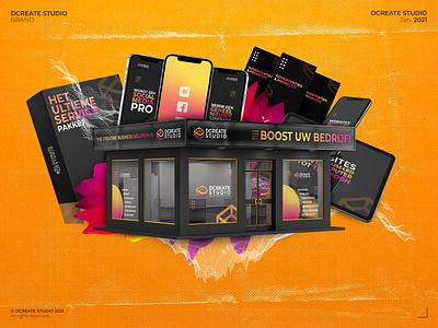 Dcreate Studio - Brand composition graphic company branding design business business company branding branding concept brand identity graphic studio graphic design