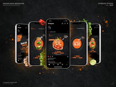 Grandtaria Broekhin - Instagram Design branding concept food design food instagram restaurant design social media design instagram design design logo brand identity branding