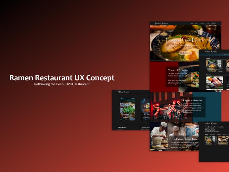 Post-Covid Restaurant Website Concept web design food ux design