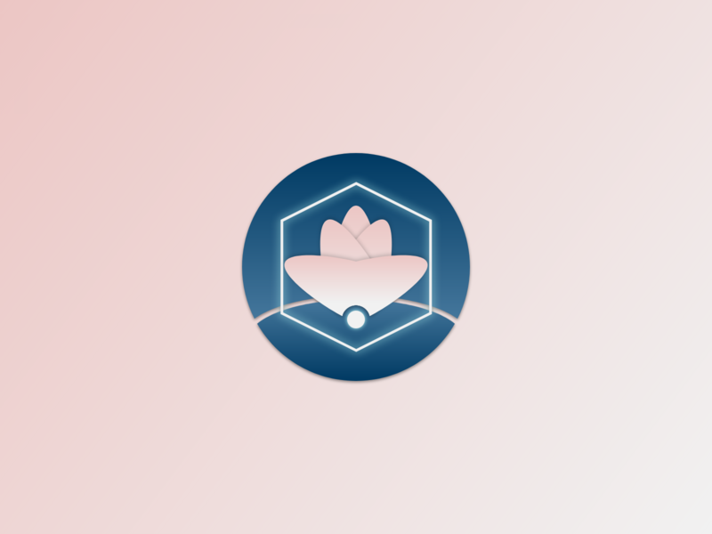 Personal Portfolio Sakura Icon depth simple branding concept adobe xd flower sakura icon design icon