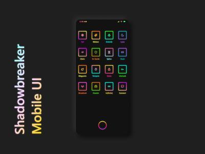 Neon Mobile UI Concept gradient colorful neon cyberpunk concept mobile design