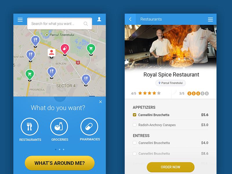 App For Finding Nearest Restaurants Grocery Shops Pharmacy