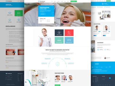 Dental wordpress theme design