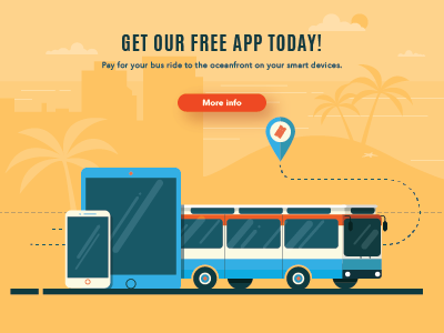 Banner ad transportation transit device ticket bus mobile