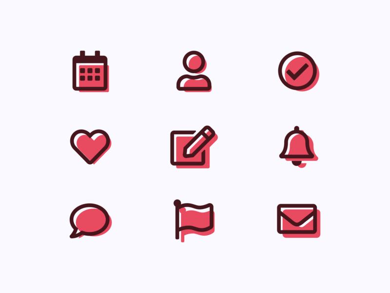 Icon Set: DailyUI_055 icon illustration challenge uidesign flat uxui ui interface daily 100 challenge dailyuichallenge daily ui daily dailyui figma design figmadesign figma icon set iconset icons