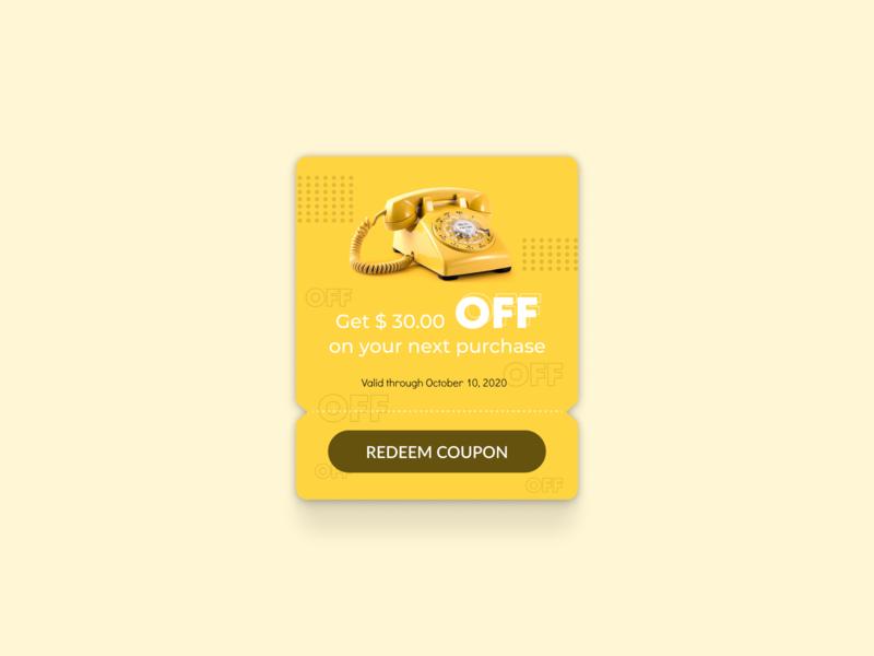 Redeem Coupon: DailyUI_061 daily ui uxui dailyui daily 100 challenge coupons figma creators figma design figmadesign figma interface ui purchase discount off coupon redeem coupon redeem
