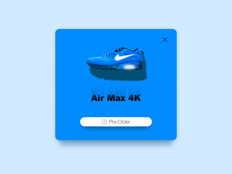 Pre-Order: DailyUI_075 daily 100 challenge dailyui daily figma design figmadesign figma pop up popup notification shoes store shoes shoe nike shoes offer promotion blue nike air max nike pre order preorder