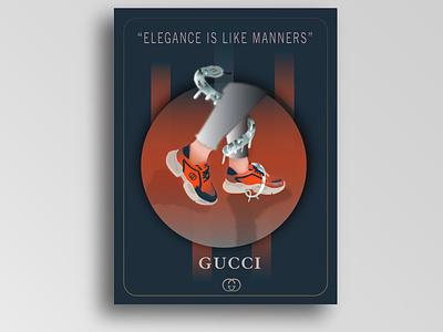 illustration fashion poster design minimal poster luxury brand gucci poster design fashionillustration gardient graphicdesign vector illustration