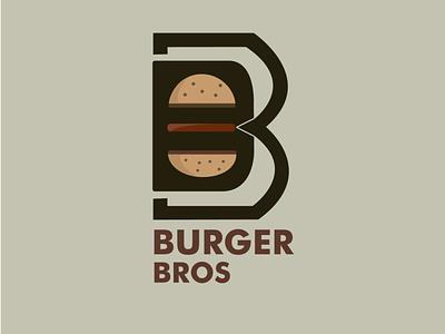 Logo design for burger restaurant bros. burger restaurant logo combination logo food branding graphicdesign vector illustration burger logo logodesign
