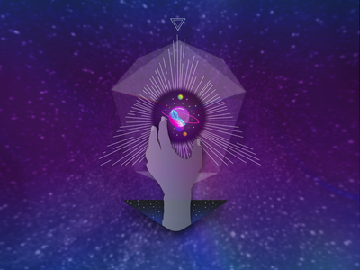 violescent synodic geometry 1 noetic adobe illustrator universe 3d 2d triangle trippy vector design basic shapes graphicdesign illustration