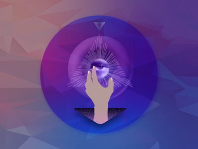 Violescent synodic geometry 2 artwork trippy design vector graphicdesign basic shapes illustration