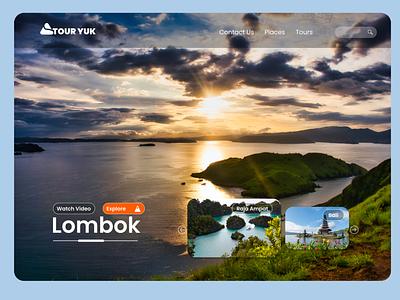 Tour Yuk Lombok minimal typography design ux ui web webdesign